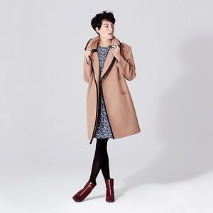 Kate Spade Saturday Piped Overcoat with Thinsulate